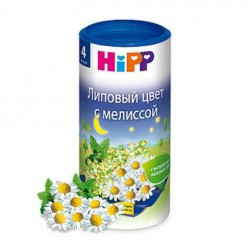 Чай для детей, Хипп 200 г липовый цвет с мелиссой с 4 мес