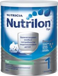 Смесь молочная, Нутрилон 400 г ПРЕ 1 для недоношенных и маловесных детей