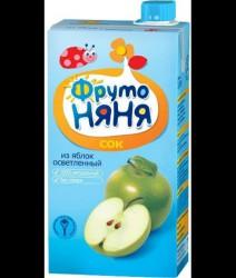 Сок, Фрутоняня 500 мл яблоко осветленный без сахара с 3 мес